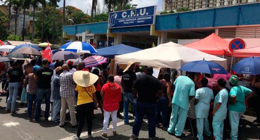 Guadeloupe, le CHU en grève